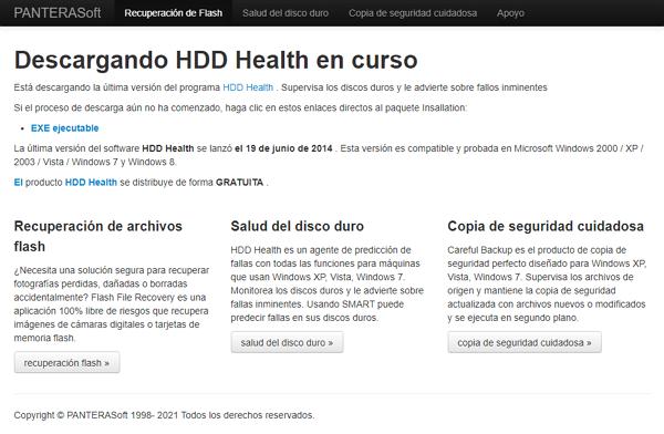 HDD Health como programa para analizar el disco duro