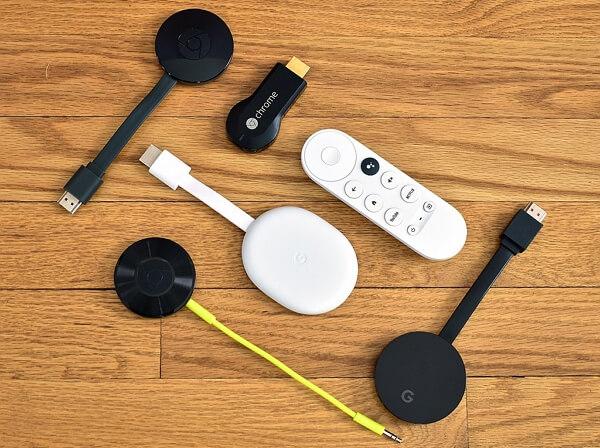 Modelos de dispositivos Chromecast