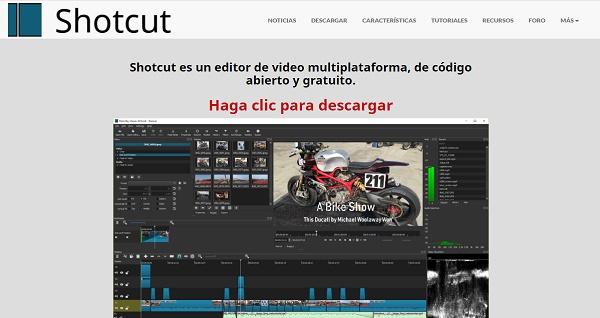 Shotcut como alternativa a Movie Maker