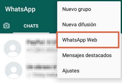 Vincular cuenta con código QR para iniciar sesión en WhatsApp Desktop o Web paso 1