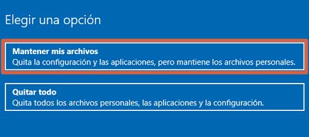 restablecer windows 10 recupera el estado original sin perder archivos desde las configuraciones paso 4