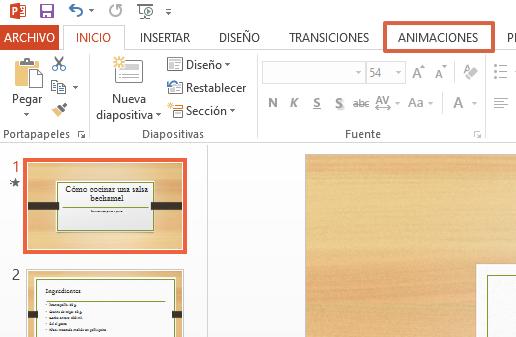 Cómo agregar una animación en PowerPoint paso 2