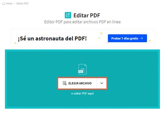 Cómo resaltar o subrayar PDF de manera online usando Smallpdf paso 2
