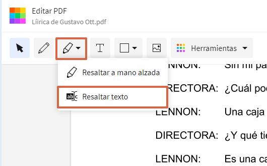 Cómo resaltar o subrayar PDF de manera online usando Smallpdf paso 3