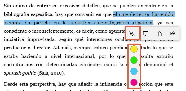 Cómo resaltar o subrayar PDF desde Microsoft Edge