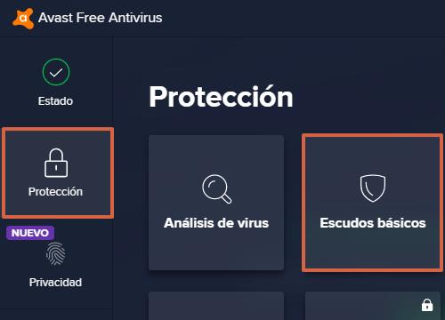Cómo suspender el antivirus Avast en Windows paso 2