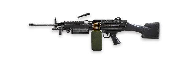 Tipos de armas y sus características. Ametralladoras especiales. M249