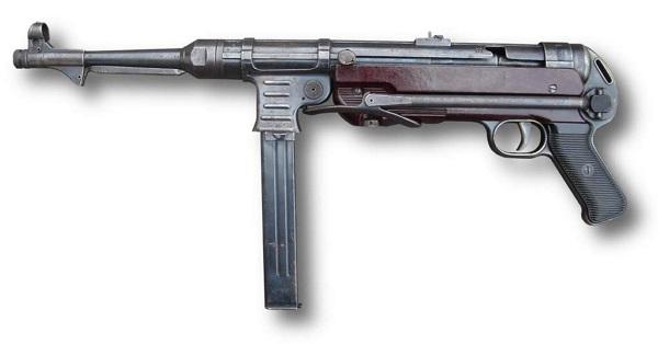 Tipos de armas y sus características. Subfusiles (SMG). MP40