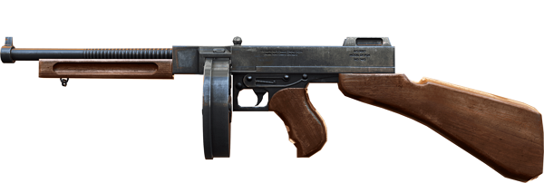 Tipos de armas y sus características. Subfusiles (SMG). THOMPSON