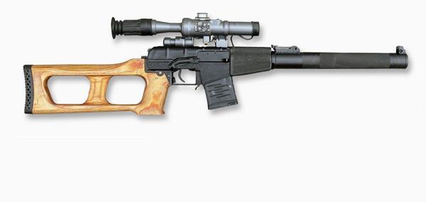Tipos de armas y sus características. Subfusiles (SMG). VSS