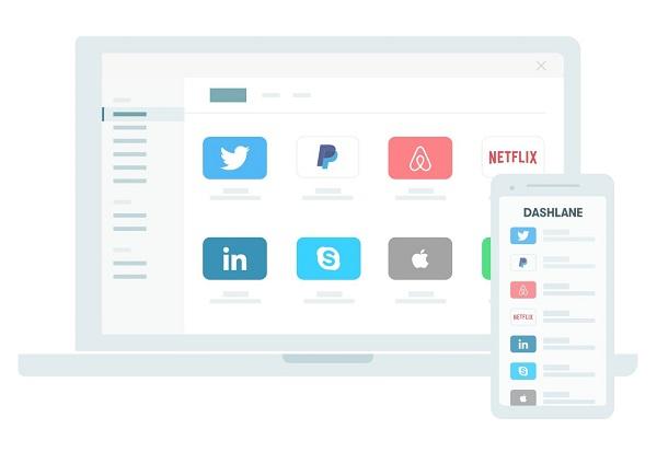 Aplicaciones y sitios web para administrar cuentas y contraseñas. Dashlane