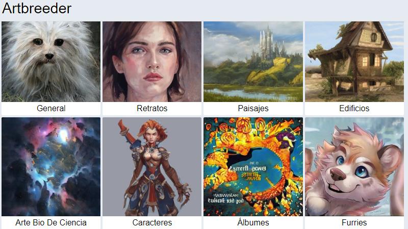 ArtBreeder crear personajes sin dibujar con inteligencia artificial.