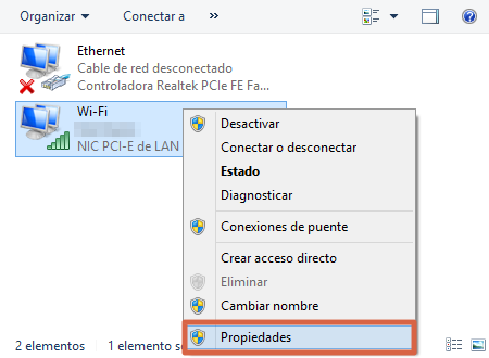Cambiar el DNS automático y colocarlo manualmente para solucionar problemas de conexión paso 3
