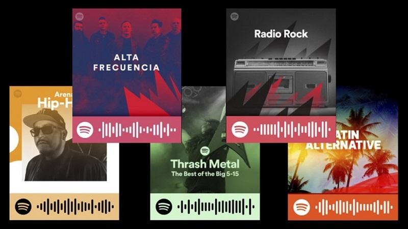 Códigos en Spotify códigos QR para abrir canciones con la cámara