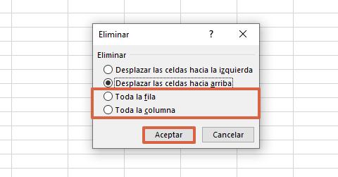 Cómo eliminar celdas, columnas y filas en Excel haciendo clic derecho paso 3