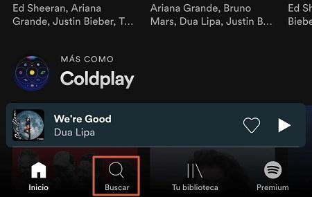 Cómo escanear un código de Spotify paso 1