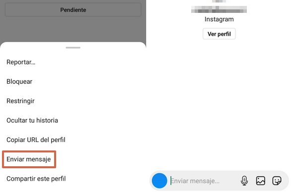 Cómo ver una cuenta de Instagram privada enviando un mensaje directo