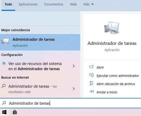 Comprobar memoria RAM A través del Administrador de tareas. Paso 1