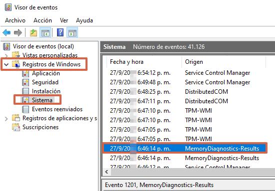 Comprobar memoria RAM A través del Diagnóstico de memoria de Windows. Paso 5