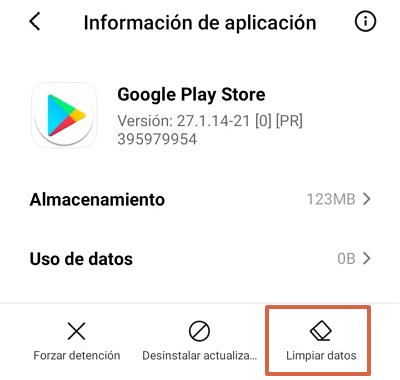 Google Play Store se detuvo causas y soluciones. Qué hacer si sale el error Google Play se ha detenido. Borrar el caché. Paso 2