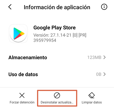 Google Play Store se detuvo causas y soluciones. Qué hacer si sale el error Google Play se ha detenido. Desinstalar actualizaciones de Google Play Store. Paso 2