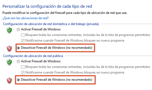 Restablecer la conexión del servidor DNS deshabilitando el Firewall de Windows paso 5