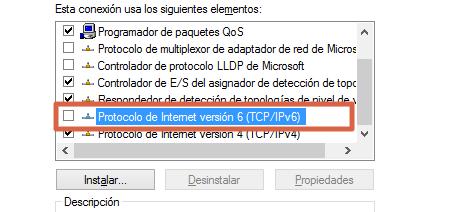Restablecer la conexión del servidor DNS deshabilitando el IPv6 paso 4