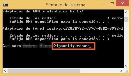 Restablecer la conexión del servidor DNS eliminando caché paso 3