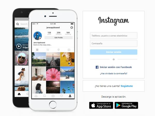 Usar Instagram direct desde la web oficial