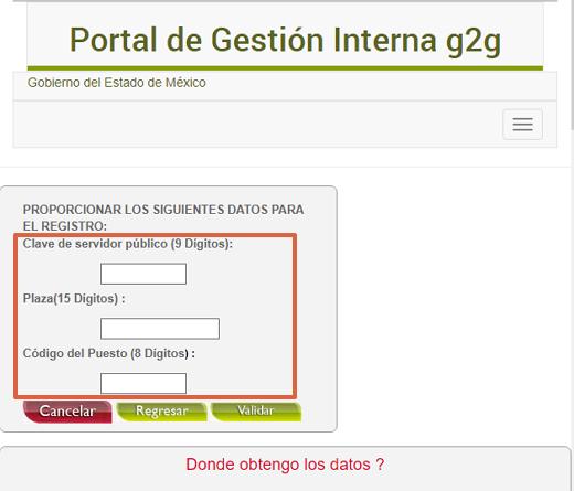 Cómo registrarse en el portal G2G paso 2