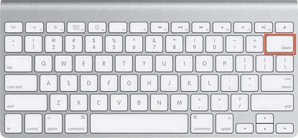 Tecla DelSupr en un teclado inglés